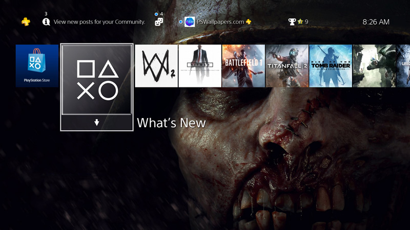 Horror Theme Custom Playstation 4 Ps4 Wallpapers Ps Wallpapers